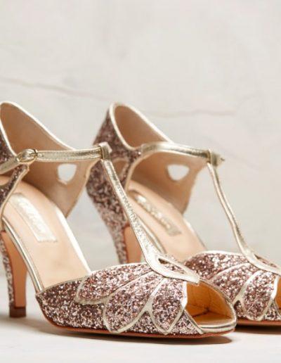Chaussures paillettes  mariée Rachel Simpson à Périgueux Marjorie Mariage