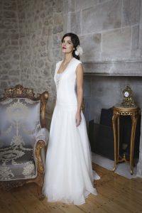 Robe de mariée Elsa Gary turquoise à Périgueux