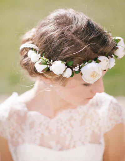couronne de fleurs mariage English garden à Périgueux