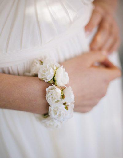 bracelet de fleurs English garden marjorie Mariage à Périgueux