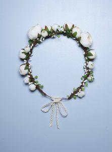 couronne de fleurs mariage English garden en Dordogne