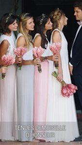 tenue demoiselles d'honneur mariage en Aquitaine
