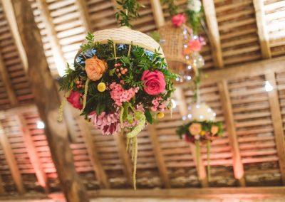 Suspension florale décoration de salle de mariage