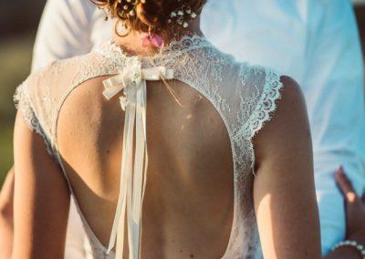 Robe de marié dos nu bohème